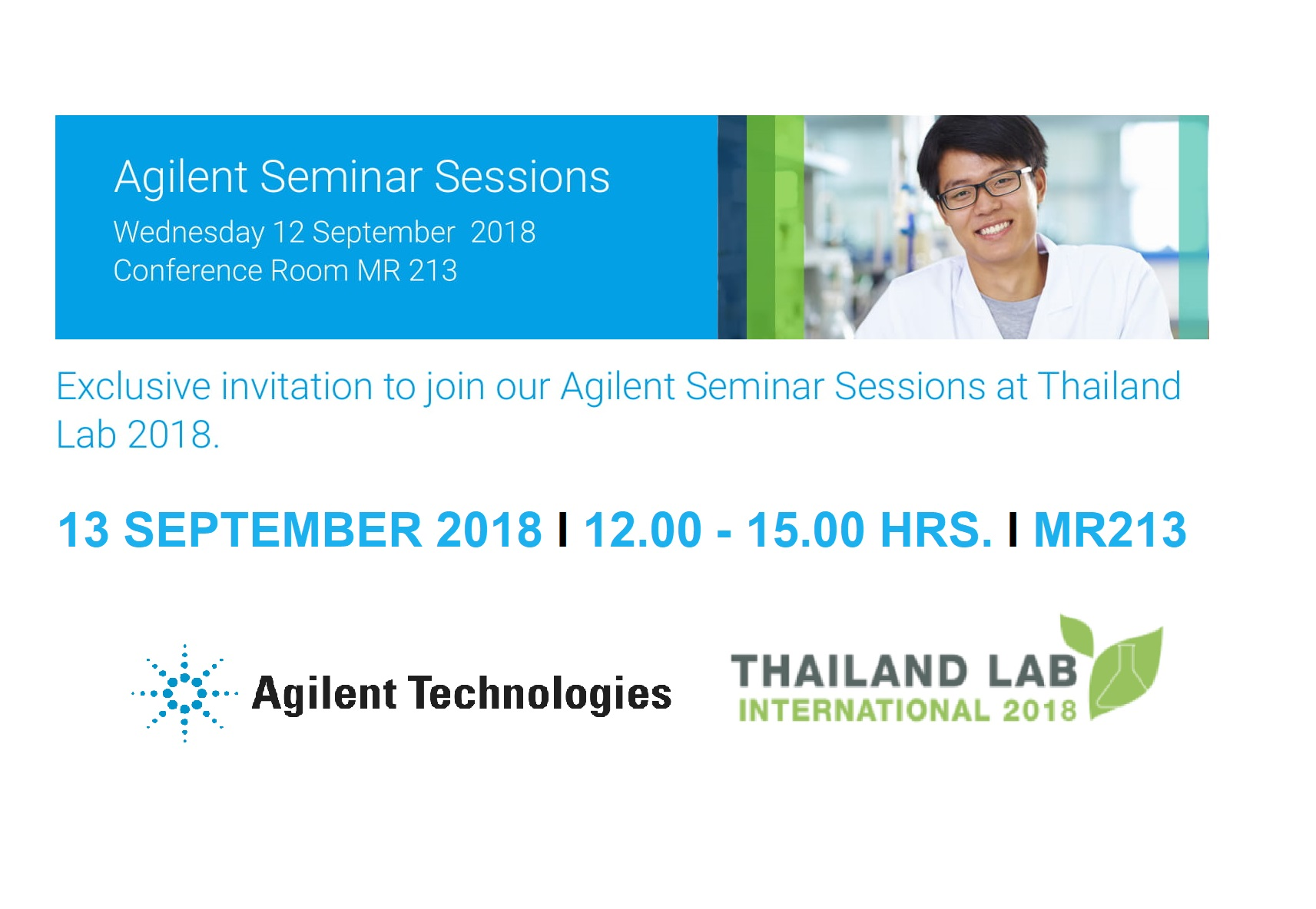 Exclusive invitation to join us at the Agilent Seminar Sessions