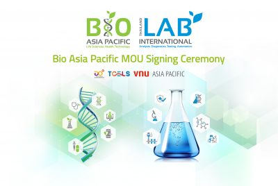 Signing of Strategic Partnership Agreement between TCELS and VNU Asia Pacific at the Bio Asia-Pacific 2021: The Fully Virtual Exhibition & Conference!